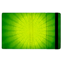 Radial Green Crystals Crystallize Apple iPad 3/4 Flip Case by Vayuart