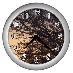 Arizona Sunset Wall Clocks (silver)  by JellyMooseBear