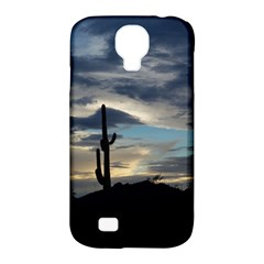 Cactus Sunset Samsung Galaxy S4 Classic Hardshell Case (pc+silicone) by JellyMooseBear