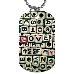 Love Dog Tag (one Side) by JellyMooseBear