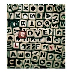 Love Shower Curtain 66  X 72  (large)  by JellyMooseBear