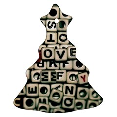 Love Christmas Tree Ornament (two Sides) by JellyMooseBear