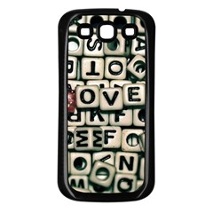 Love Samsung Galaxy S3 Back Case (black) by JellyMooseBear