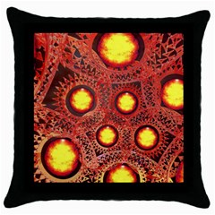 Mechanical Universe Throw Pillow Case (black) by linceazul