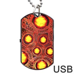 Mechanical Universe Dog Tag Usb Flash (two Sides) by linceazul