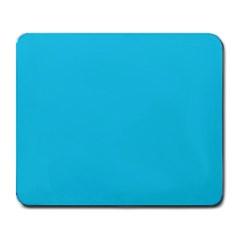 Neon Color   Brilliant Arctic Blue Large Mousepads by tarastyle