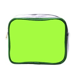 Neon Color   Brilliant Charteuse Green Mini Toiletries Bags by tarastyle
