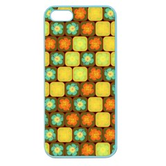 Random Hibiscus Pattern Apple Seamless Iphone 5 Case (color) by linceazul
