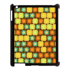Random Hibiscus Pattern Apple Ipad 3/4 Case (black) by linceazul