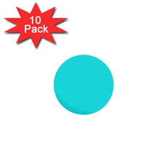 Neon Color   Brilliant Cyan 1  Mini Buttons (10 Pack)  by tarastyle