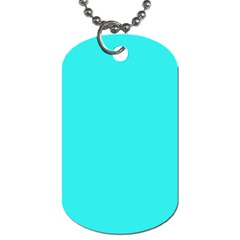 Neon Color   Brilliant Cyan Dog Tag (two Sides) by tarastyle