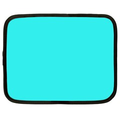 Neon Color   Brilliant Cyan Netbook Case (large) by tarastyle
