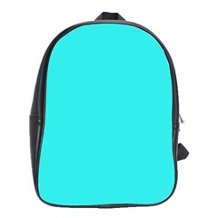 Neon Color   Brilliant Cyan School Bags(large)  by tarastyle
