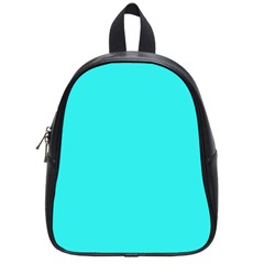 Neon Color   Brilliant Cyan School Bags (small)  by tarastyle