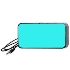 Neon Color   Brilliant Cyan Portable Speaker (black) by tarastyle