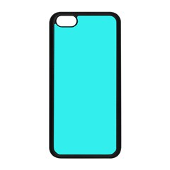 Neon Color   Brilliant Cyan Apple Iphone 5c Seamless Case (black) by tarastyle