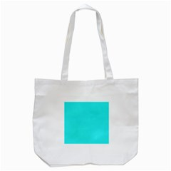 Neon Color   Brilliant Cyan Tote Bag (white) by tarastyle