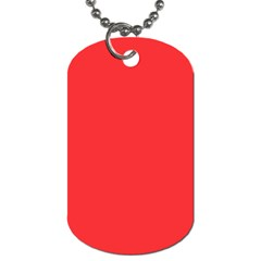 Neon Color   Brilliant Red Dog Tag (two Sides) by tarastyle