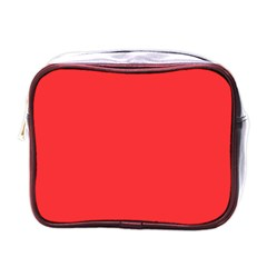 Neon Color   Brilliant Red Mini Toiletries Bags by tarastyle