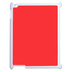 Neon Color   Brilliant Red Apple Ipad 2 Case (white) by tarastyle