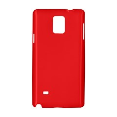 Neon Color   Brilliant Red Samsung Galaxy Note 4 Hardshell Case by tarastyle