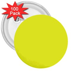 Neon Color   Brilliant Yellow 3  Buttons (100 Pack)  by tarastyle