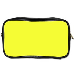 Neon Color   Brilliant Yellow Toiletries Bags 2 Side by tarastyle