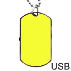 Neon Color   Brilliant Yellow Dog Tag Usb Flash (one Side) by tarastyle