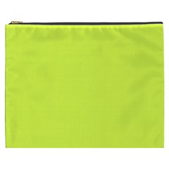 Neon Color   Light Brilliant Apple Green Cosmetic Bag (xxxl)  by tarastyle