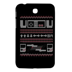 Old School Ugly Holiday Christmas Black Background Samsung Galaxy Tab 3 (7 ) P3200 Hardshell Case  by Onesevenart
