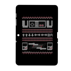 Old School Ugly Holiday Christmas Black Background Samsung Galaxy Tab 2 (10 1 ) P5100 Hardshell Case  by Onesevenart