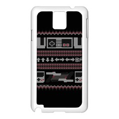 Old School Ugly Holiday Christmas Black Background Samsung Galaxy Note 3 N9005 Case (white) by Onesevenart