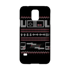 Old School Ugly Holiday Christmas Black Background Samsung Galaxy S5 Hardshell Case  by Onesevenart