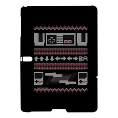 Old School Ugly Holiday Christmas Black Background Samsung Galaxy Tab S (10 5 ) Hardshell Case  by Onesevenart