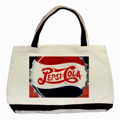 Pepsi Cola Basic Tote Bag by Onesevenart
