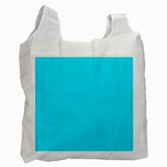 Neon Color   Light Brilliant Arctic Blue Recycle Bag (two Side)  by tarastyle