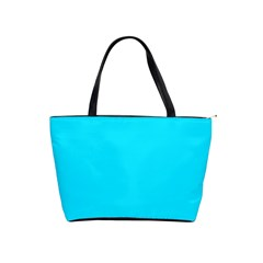 Neon Color   Light Brilliant Arctic Blue Shoulder Handbags by tarastyle