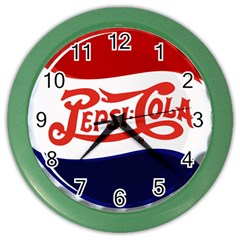 Pepsi Cola Color Wall Clocks by Onesevenart