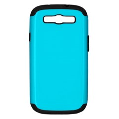 Neon Color   Light Brilliant Arctic Blue Samsung Galaxy S Iii Hardshell Case (pc+silicone) by tarastyle