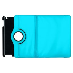 Neon Color   Light Brilliant Arctic Blue Apple Ipad 3/4 Flip 360 Case by tarastyle