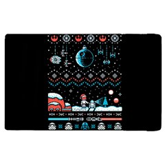 That Snow Moon Star Wars  Ugly Holiday Christmas Black Background Apple Ipad 3/4 Flip Case by Onesevenart
