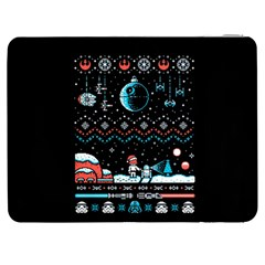 That Snow Moon Star Wars  Ugly Holiday Christmas Black Background Samsung Galaxy Tab 7  P1000 Flip Case by Onesevenart