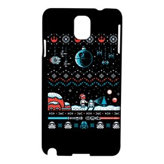 That Snow Moon Star Wars  Ugly Holiday Christmas Black Background Samsung Galaxy Note 3 N9005 Hardshell Case by Onesevenart