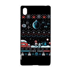 That Snow Moon Star Wars  Ugly Holiday Christmas Black Background Sony Xperia Z3+ by Onesevenart