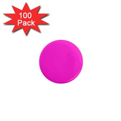 Neon Color   Light Brilliant Fuchsia 1  Mini Magnets (100 Pack)  by tarastyle