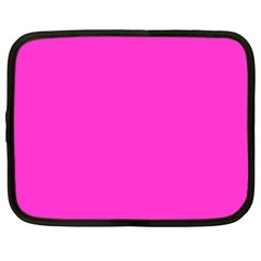 Neon Color   Light Brilliant Fuchsia Netbook Case (large) by tarastyle