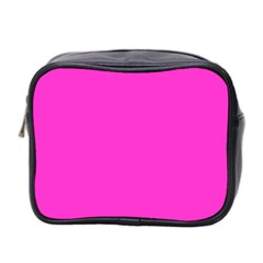 Neon Color   Light Brilliant Fuchsia Mini Toiletries Bag 2 Side by tarastyle