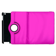 Neon Color   Light Brilliant Fuchsia Apple Ipad 3/4 Flip 360 Case by tarastyle