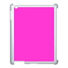 Neon Color   Light Brilliant Fuchsia Apple Ipad 3/4 Case (white) by tarastyle