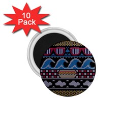 Ugly Summer Ugly Holiday Christmas Black Background 1 75  Magnets (10 Pack)  by Onesevenart